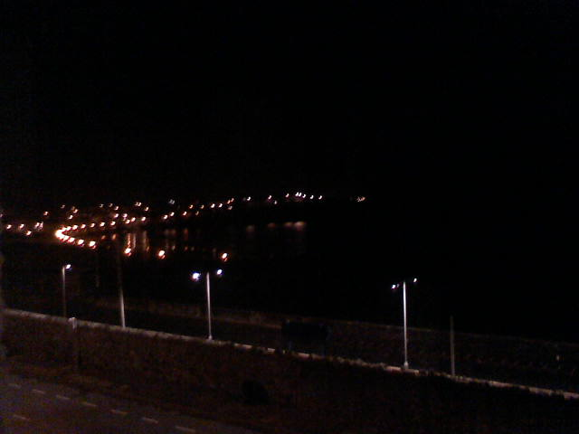 View from room 6 at night